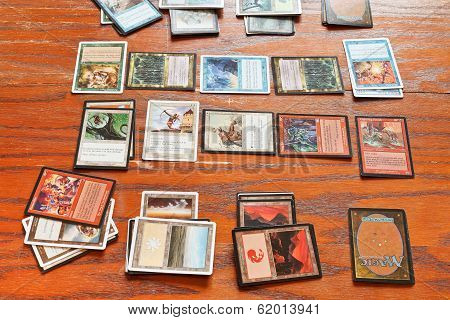 Playing Field Of Card Game Magic The Gathering