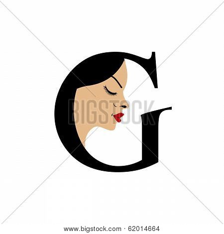 Faces in alphabet G- for skin tanning or parlor