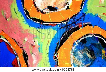 Abstract Background Painting circles