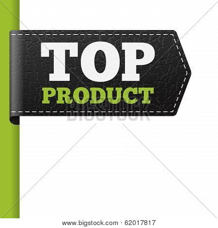Top Product Leather Bookmark Label
