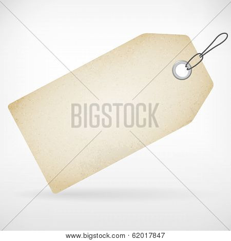 Realistic Blank Paper Price Label Tag