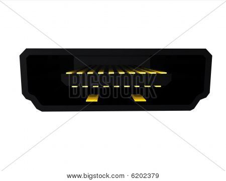 HDMI Video port plug connector