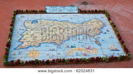The Map Of Capri Island