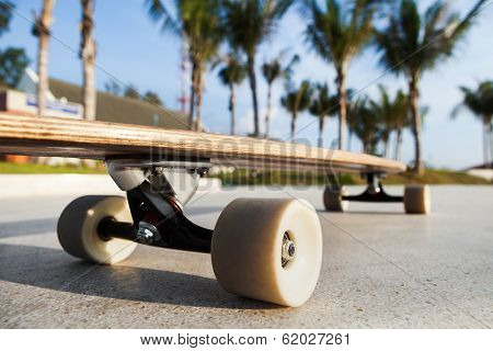 Skateboard On The Promenade