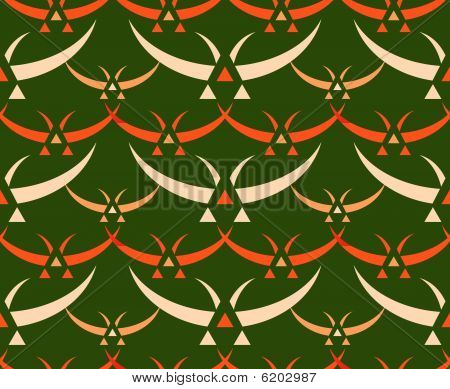 Japanese birds seamless pattern