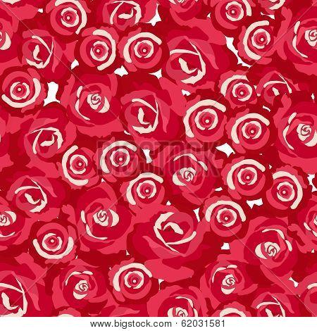 seamless pattern of rosebuds