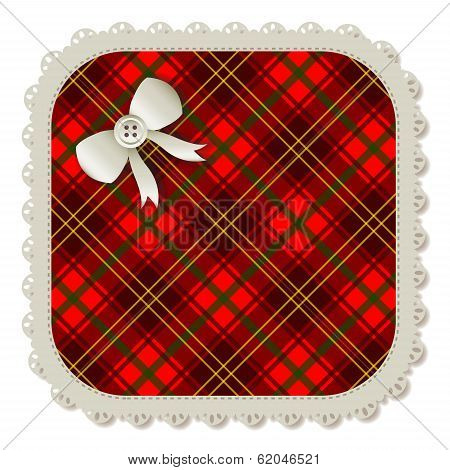 Square Plaid Patch