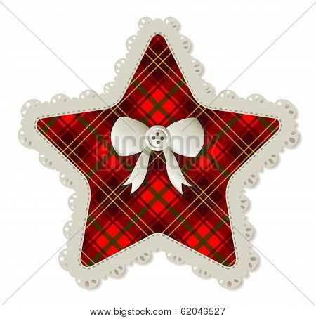 Plaid Star Patch