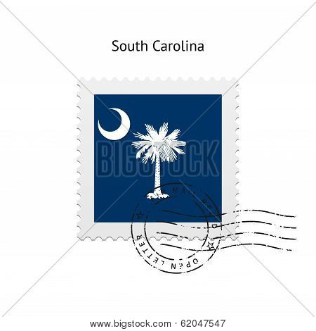 State of South Carolina flag postage stamp.