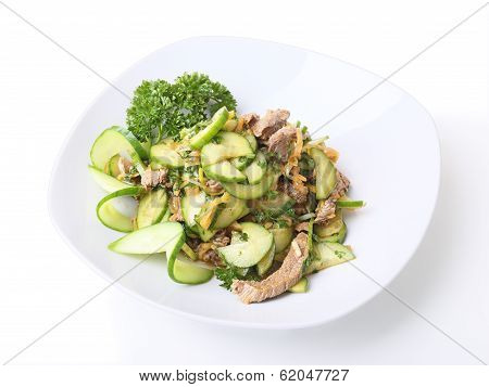 Plate With Veche Salad