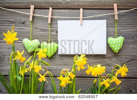 Message And Hearts On The Clothesline