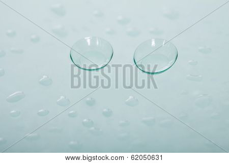 Pair Of Soft Contact Lenses