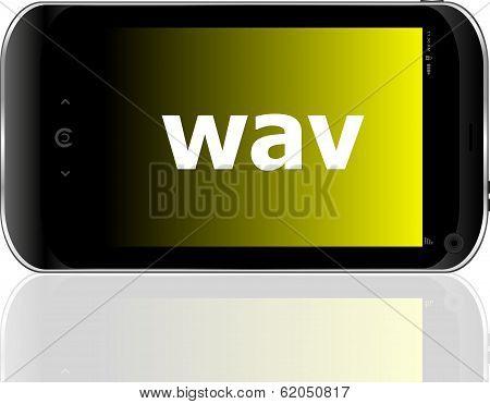 Web Development Concept: Smartphone With Word Wav On Display