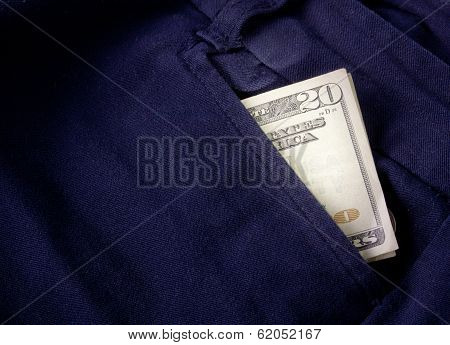 Twenty Bill Folded