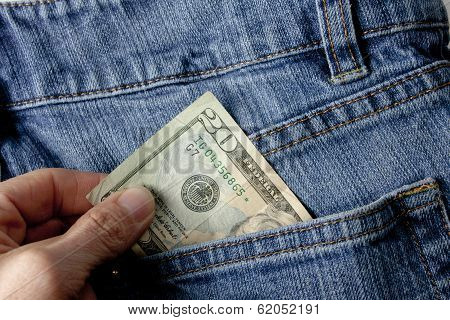 Pulling Out Money From Rear Pocket