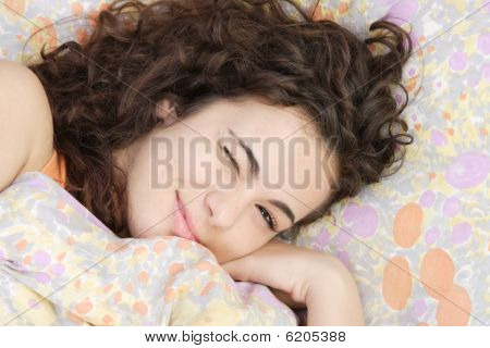 Beautiful Teenage Girl Sleeping