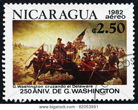 Postage Stamp Nicaragua 1982 Crossing Of The Delaware River
