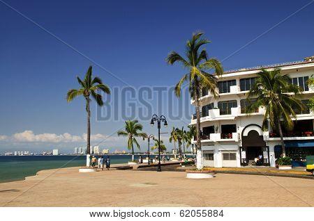 Vacation at Puerto Vallarta beach on Pacific coast of Mexico