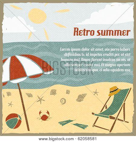 Summer vacation background retro