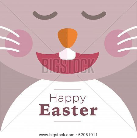 Easter rabbit laughing