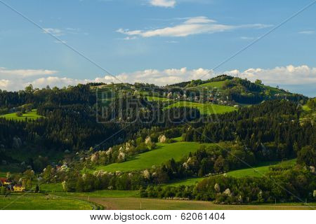Higland Landscape Of Beskydy Mountains