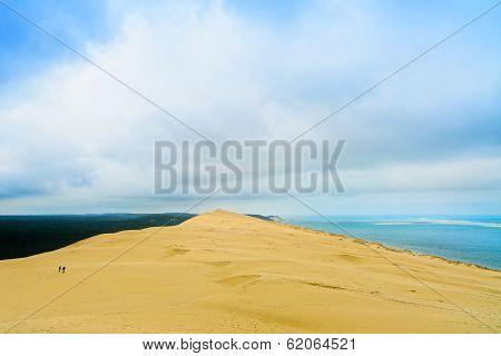 Pyla Or Pilat Dune, Bordeaux. France, Largest Sand Dune In Europe.
