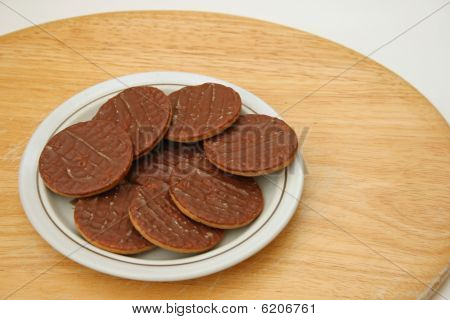 biscuits on a side plate