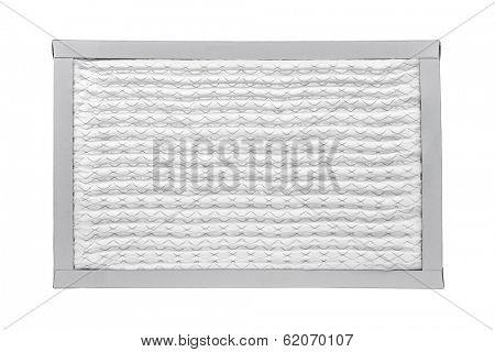 New furnace filter isolated on white background