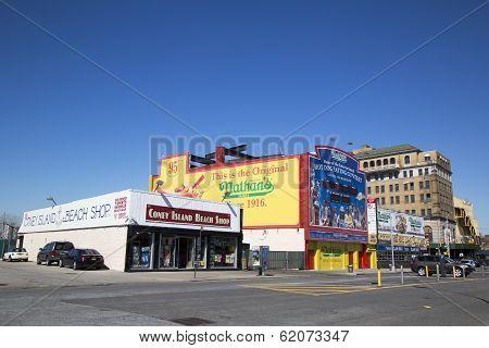 Coney Island Landmarks The Nathan s original restaurant and Coney Island Beach Shop
