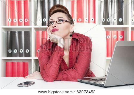 Boring Office Worker