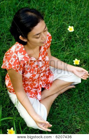 Woman Meditation in Nature