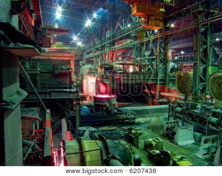 Metallurgical works, industrial production process