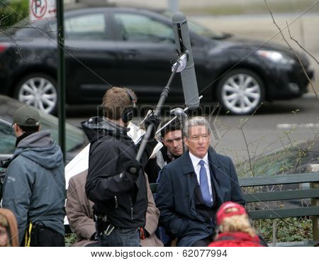 NYC - APRIL 14: Richard Gere on the set of his latest movie, Arbitrage,
