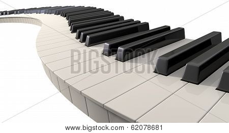 Curvy Piano Keys