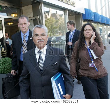 VIENNA, AUSTRIA - SEPT 11: Saudi oil minister Ali I. Naimi arrives at the 142nd meeting of the Organization of Petroleum Exporting Countries (OPEC) on Monday, September 11, 2006 in Vienna, Austria