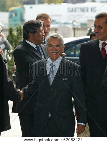 VIENNA, AUSTRIA - SEPT 19: Saudi Arabian oil minister Ali I Naimi arrives at the Organization of Petroleum Exporting Countries (OPEC) headquarters in Vienna, Austria, on Monday, September 19, 2005