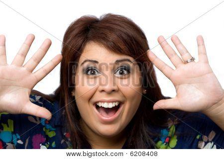 Mujer sorprendida