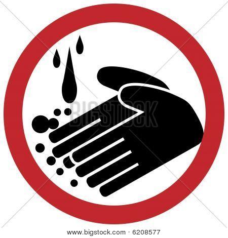 Hand washing circle