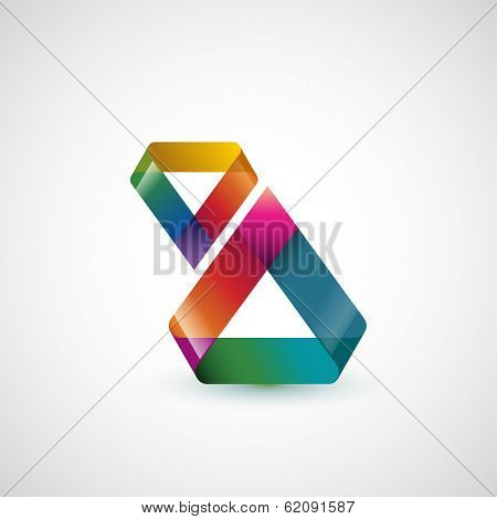 Abstract shape, triangle, eps10 vector