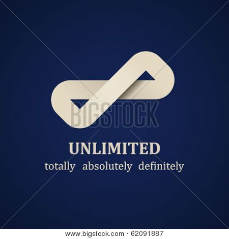 vector abstract unlimited symbol design template
