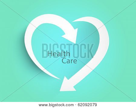 Abstract world heath day concept with stylish heart shapes on green background.