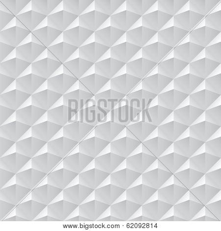 Seamless abstract geometric background. White seamless texture with shadow. Simple  white background texture.