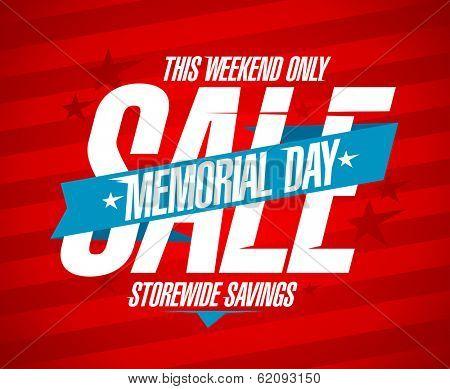 Memorial day sale design template.