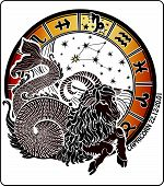 image of sagittarius  - Big Capricorn and symbols of all zodiac signs  - JPG