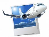 stock photo of aeroplane symbol  - Vector Cartoon Airliner - JPG