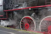 picture of locomotive  - The photograph shows a steam engine train - JPG