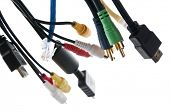 Wires and connectors for computer audio video
