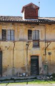 picture of derelict  - An old derelict agricultural building in Friuli north east Italy - JPG