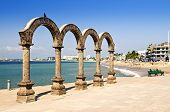 picture of malecon  - Los Arcos Amphitheater at Pacific ocean in Puerto Vallarta - JPG