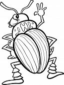 pic of potato bug  - Black and White Cartoon Illustration of Funny Colorado Potato Beetle Insect Character for Coloring Book - JPG